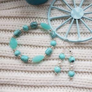 Handmade earrings with bracelet
